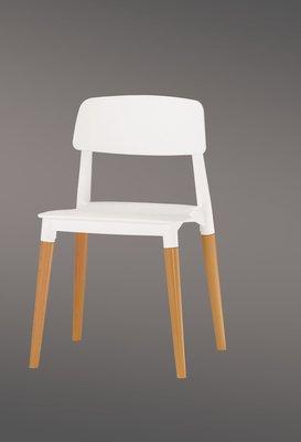 【宏興HOME BRISK】安娜造型椅(白)(實木) 。QM新品20