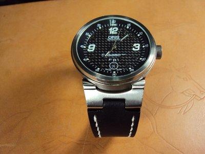ORIS WILLIAMS FI TEAM 牛皮錶帶巧將手工錶帶Cheergiant watch straps MIT