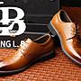 『老兵牛仔』CK-2588鱷魚紋繫帶商務皮鞋/頭層牛皮/時尚/彈力/耐摩/個性