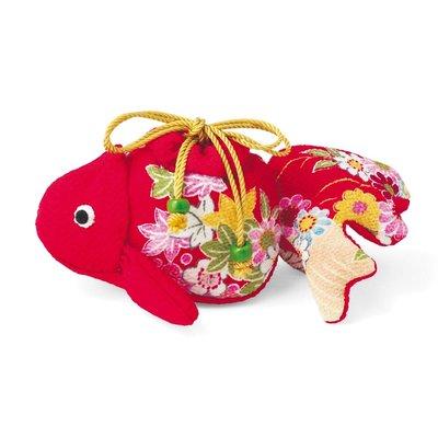日式縐布小物隨身小提袋 材料組 金魚❤EZ樂活手作❤