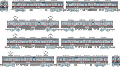 [玩具共和國] 4543736317975 京成電鉄3600形3648編成8両セットB