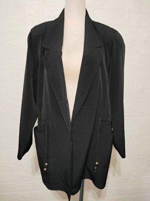 663大尺碼黑色西裝外套