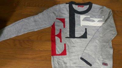 *BABY 二手衣*ELLE專櫃~小帥弟的簡潔風羊毛毛衣160cm