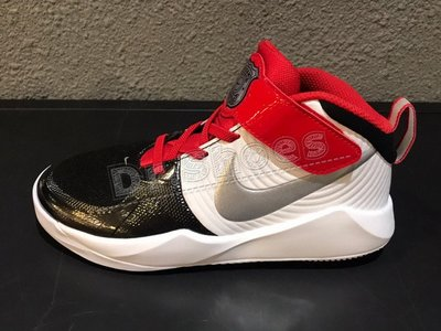 【Dr.Shoes】 Nike Team Hustle D9 中童 鴛鴦鞋 白紅藍 學步鞋 CQ4278-001