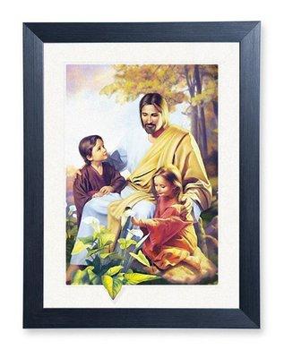 基督教禮品 幸福小組禮物  ~5D立體光雕畫~耶穌喜愛小孩