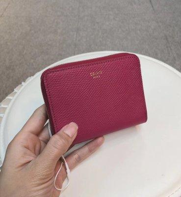 ?Alan艾倫歐美代購™️ Celine ZIPPED WALLET 拉鍊 牛皮卡包 零錢包
