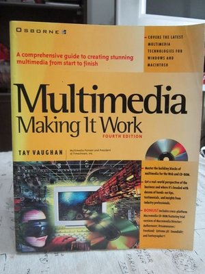 *謝啦二手書* Multimedia Making It Work 多媒體-使其工作 TAY VAUGHAN