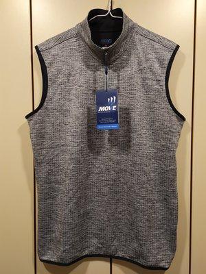 全新 美國MOVE Performance Apparel 灰色運動擋風保暖外罩式背心 SIZE:M