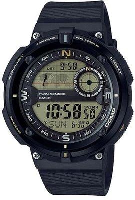 CASIO手錶公司貨 方位與溫度 100米登山錶 SGW-600H-9A 附發票