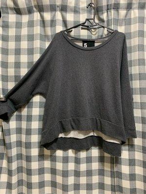 【二手衣】5 PREVIEW 鐵灰色衛衣