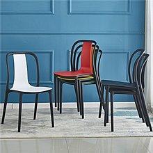 家具 椅子現代簡約塑料餐椅靠家用背椅凳子創意休閑椅北歐餐廳ins椅凳 優品百貨