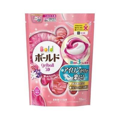 日本 P&G洗衣膠球補充包(18入)花...
