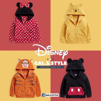 【正版正貨 】迪士尼 小熊維尼 跳跳虎 米奇老鼠 米妮老鼠 Winnie the Pooh tigger Disney 搖粒絨 外套  童裝