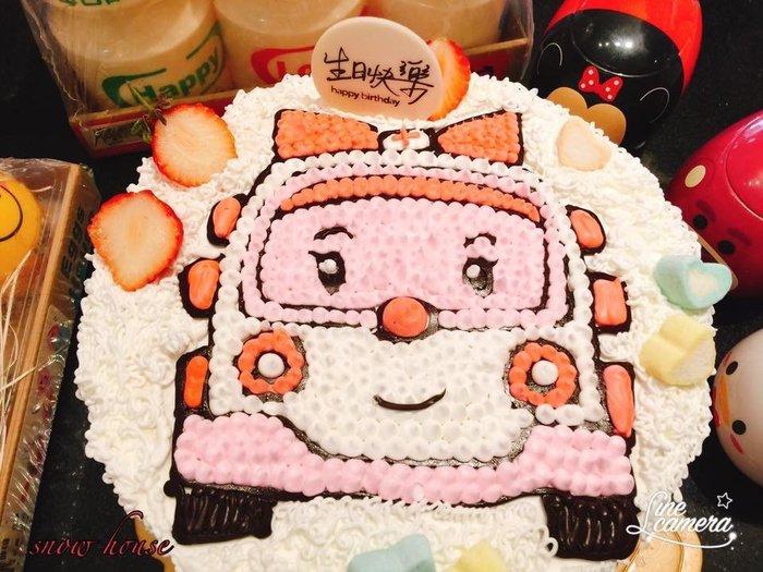 ❤ 歡迎自取 ❥ 雪屋麵包坊 ❥ 八吋生日蛋糕 ❥ 安寶卡通車車 ❥❥ 送彩色蠟燭唷