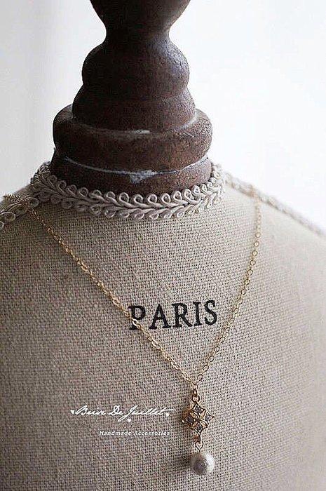 FJ12-法式手工輕珠寶-法式菱形蕾絲鑲嵌水鑽+日本進口棉花天然珍珠項鍊 手環vita fede郵差包LV