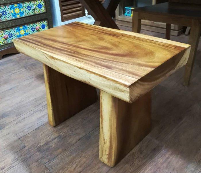 【肯萊柚木傢俱館】印尼100% 雨豆木 椅面整塊 全實木 耐重 小桌 短板凳  餐凳 民宿 店面 實用美觀