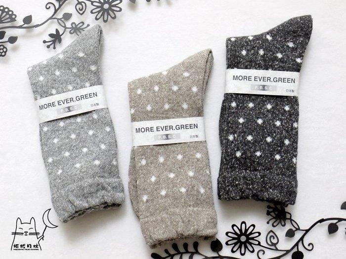 【拓拔月坊】日本品牌 P.B.S.C 保暖 水玉 混色短襪 日本製~現貨!