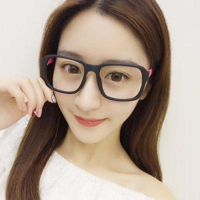 超輕裝飾眼鏡框女韓版潮復古圓臉黑色大框眼鏡架男全框個性無鏡片