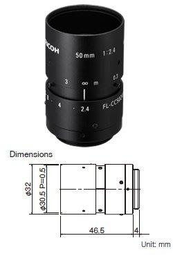 Ricoh FL-CC5024A-2M 2MP 2/3 50mm f2.4