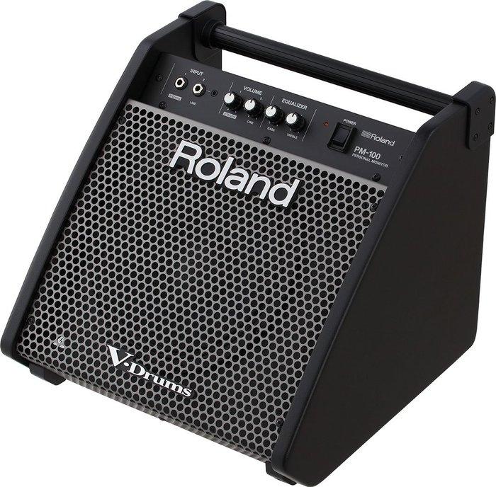 【六絃樂器】全新 Roland PM-100 80W 電子鼓音箱 加贈導線!