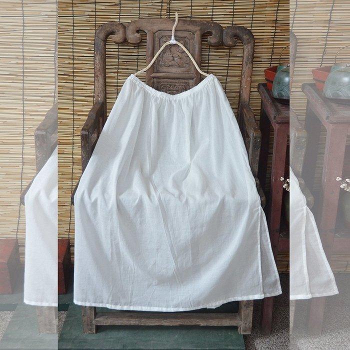 【子芸芳】全棉 長款襯裙 內搭半身裙打底 防走光安全裙