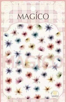 新款小深花~超薄美甲貼紙~半透深花有大小款喔~新款是小朵花