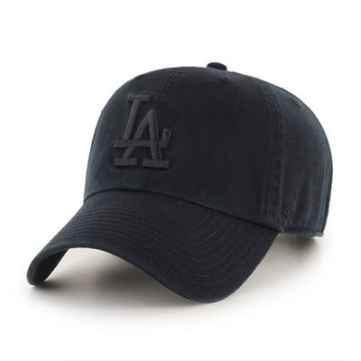 【YZY台灣】47 BRAND LA DODGERS 洛杉磯 道奇 老帽 復古帽 老爺帽 MLB LOGO 經典 全黑