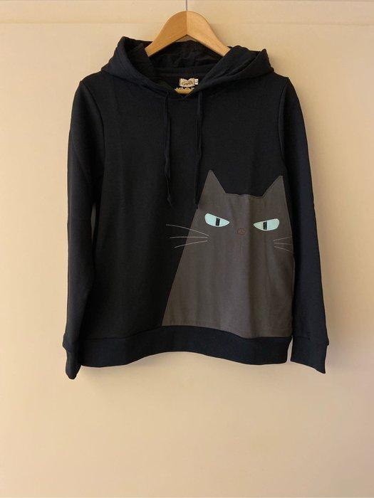 日本卡拉貓~藍眼大貓連帽T