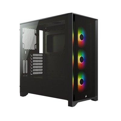*硬派精璽* Corsair 海盜船 4000X RGB鋼化玻璃機殼黑色000052000674