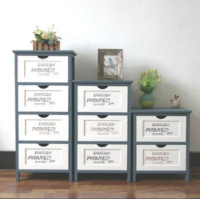 『格倫雅』美式鄉村實木床頭櫃復古儲物收納小櫃子簡易抽屜式臥室邊角置物櫃^17701
