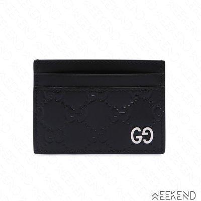 【WEEKEND】 GUCCI Signature Logo 皮夾 名片夾 信用卡夾 經典 18春夏新款