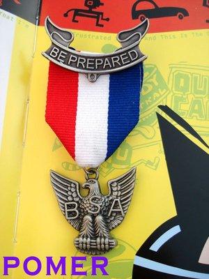 ☆POMER☆ BSA 美國童子軍 鷹級童子軍 BE PREPARED 標記CFJ 紀念獎章勳章 金屬別針胸針徽章