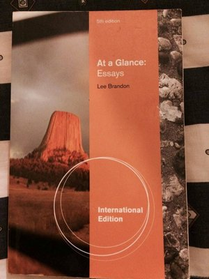 At a Glance:Essays.ISBN:9781111349424
