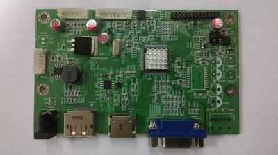液晶顯示器驅動板 A/D board (HDMI+DP+VGA, DC 12V, 固態電容)