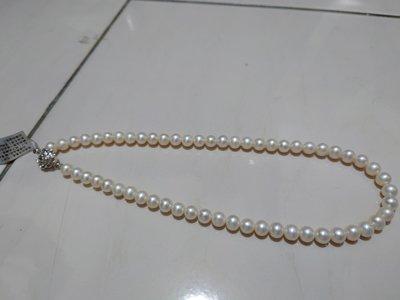 真正白珍珠項鍊(不是養珠)