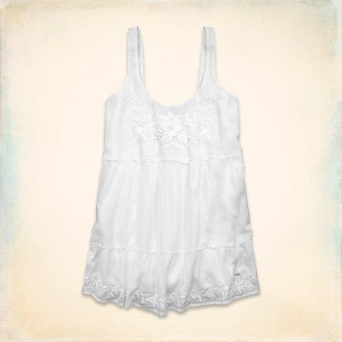 【天普小棧】HOLLISTER HCO Scripps Pier Dress寬鬆款氣質繡花連身洋裝S/M
