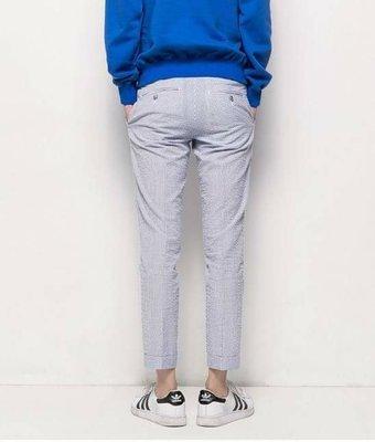 韓國條紋褲 休閒褲 穿搭 休閒