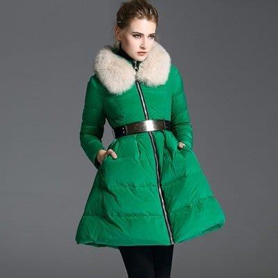 羽絨 外套 狐狸毛領夾克-保暖白鴨絨歐美時尚女外套3色73pj11[獨家進口][米蘭精品]