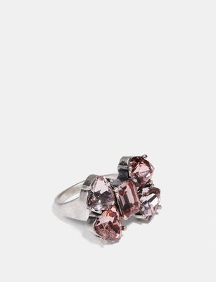 Coco小舖COACH 36894 Crystal Bow Ring 蝴蝶結水晶戒子