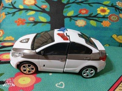 小禎雜貨 麗嬰國際代理 小禎雜貨 麗嬰國際公司貨 變形警察車 警車 長15公分 手動 不用電池 注意內容說明