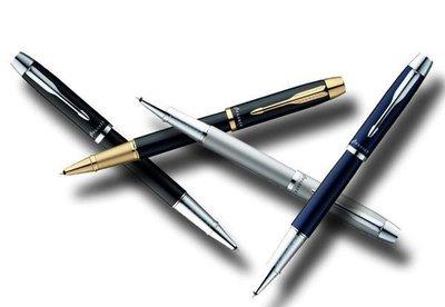 派克PARKER IM麗黑.銀灰.海洋藍白夾 麗黑金夾金屬桿鋼珠筆~ 鋼筆.原子筆
