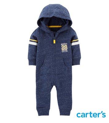 新品現貨✈美國 Carter's 卡特 包屁衣 長袖連身衣  連帽連身衣・秋冬新款 運動休閒風