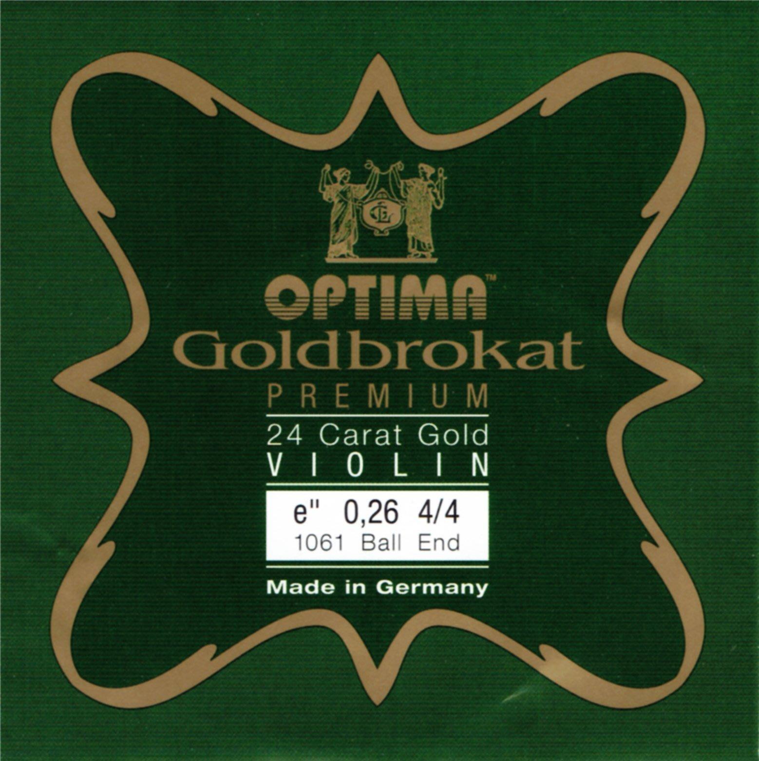 【三益琴行】『新品上架』德國OPTIMA小提琴鍍金E弦(原德國Lenzner) 24K鍍金E弦,球尾,直徑0.27