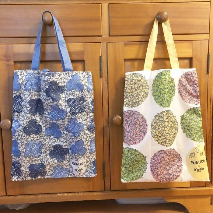 ☆Juicy☆日本 森林品牌 marble SUD 聯名 牧場 托特包 折疊 單肩包 環保袋 購物袋 手提袋 3268