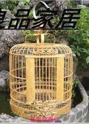 【易生發商行】送大禮!鳥籠竹制鳥籠紫竹鳥籠靛頦紅子貝子鳥籠全套配齊食碗4個F6168