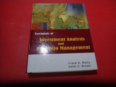 【愛悅二手書坊 07-20】ESSENTIALS OF INVESTMENT ANALYSIS and  -