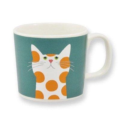 Cuppa? 貓咪系列 花貓 2號花卉馬克杯 送禮好物