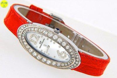 六四三精品)GRAND PHILIPPE 橢圓型外框超美水晶鑽精準錶!