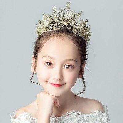 皇冠頭飾表演飾品兒童小女孩王冠生日公主韓式小朋友女童演出發飾