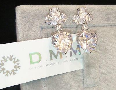 心型 梨型 水滴型 耳環 耳釘 DMM 流星鑽 莫桑石/GIA 鑽石 珠寶 摩星鑽 線戒 婚戒 高碳鑽 Moissanite 客製化 18k金
